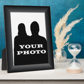 Black Frame Your Photo 8 x 10 Vertical Plaque