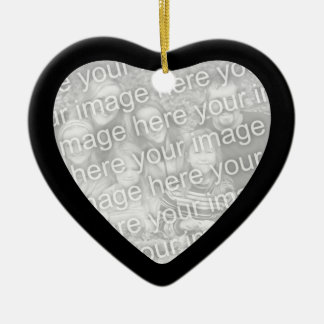 Black Framed Heart Ornament