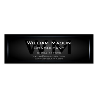 Black Framed Monogram Professional - Business Card