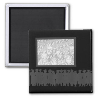 Black framed photo graduation magnet