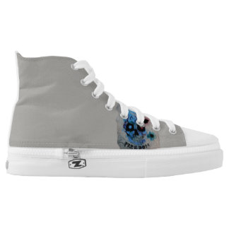 Black freedom skull high tops