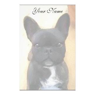 Black French Bulldog art stationary Stationery