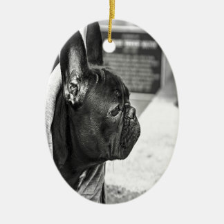 Black French Bulldog Christmas Ornament