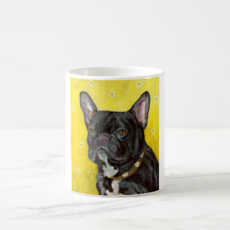 Black French Bulldog Classic White Coffee Mug