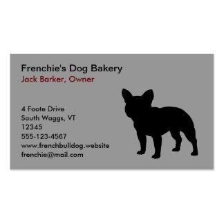 Black French Bulldog Silhouette Business Card