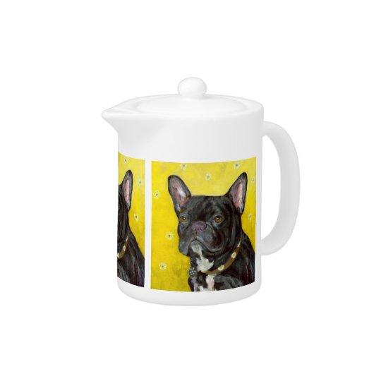 Black French Bulldog Teapot