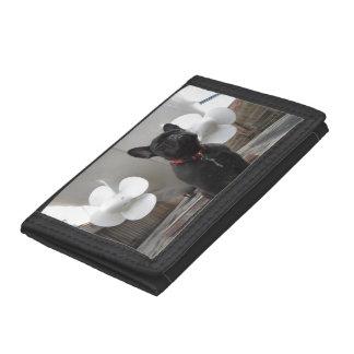 Black French Bulldog Tri-fold Wallets
