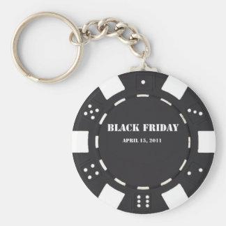 Black Friday Chip Basic Round Button Key Ring