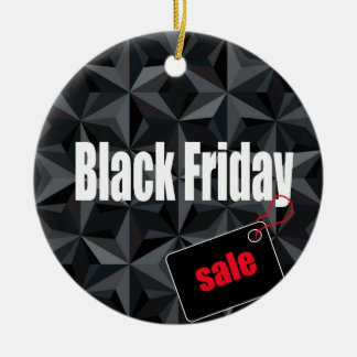 Black Friday Christmas Ornament