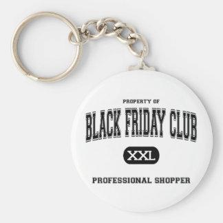 Black Friday Club Professional Shopper Basic Round Button Key Ring