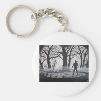 Black Friday Coming Basic Round Button Key Ring