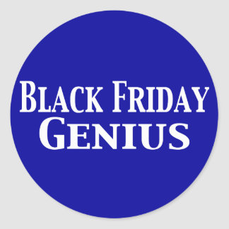 Black Friday Genius Gifts Round Sticker