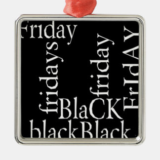 Black Friday gifts Silver-Colored Square Decoration