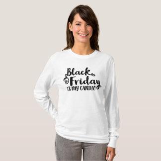 Black Friday Is My Cardio Fancy Black Script Shirt