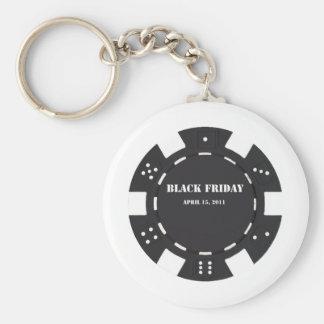 Black Friday Basic Round Button Key Ring
