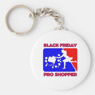 Black Friday Pro Shopper Basic Round Button Key Ring