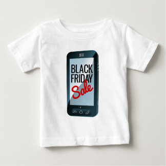 Black Friday Sale Mobile Phone Sign Baby T-Shirt