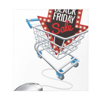 Black Friday Sale Online Trolley Computer Mouse Notepad