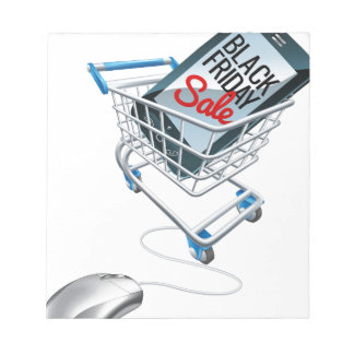 Black Friday Sale Phone Trolley Mouse Sign Notepad