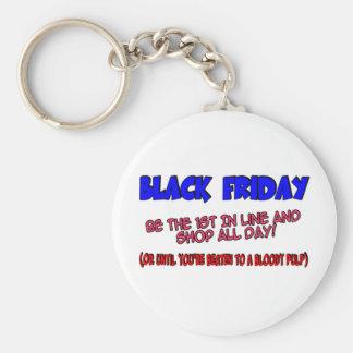 Black Friday Shop Till You Drop Basic Round Button Key Ring