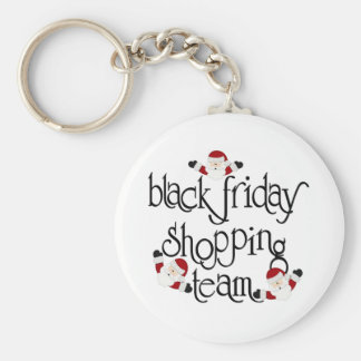 Black Friday Shopping Team Basic Round Button Key Ring