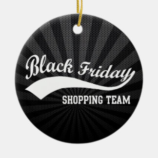 Black Friday Shopping Team Double-Sided Ceramic Round Christmas Ornament