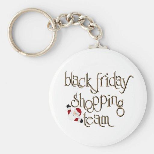 Black Friday Shopping Team Keychains