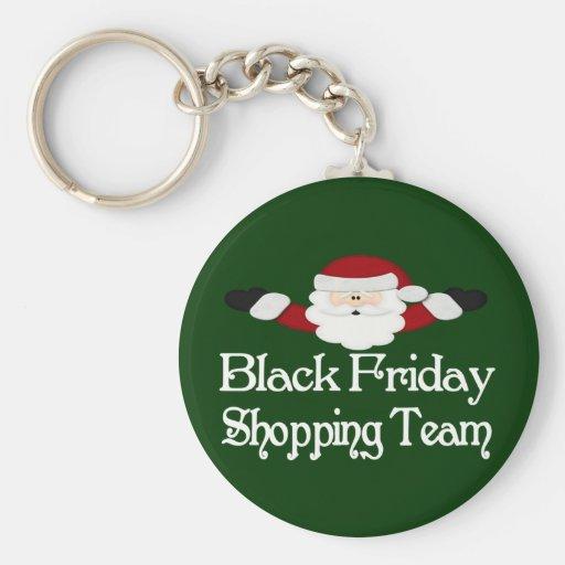 Black Friday Shopping Team Keychain