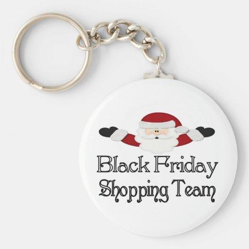 Black Friday Shopping Team Key Chain