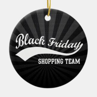 Black Friday Shopping Team Round Ceramic Decoration
