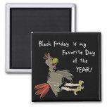 Black Friday Square Magnet
