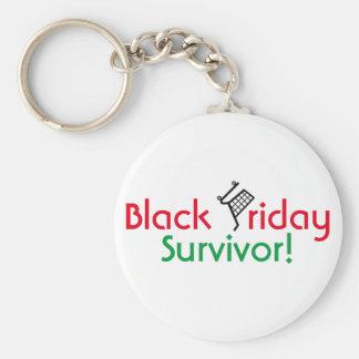 Black Friday Survivor! Basic Round Button Key Ring