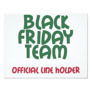 Black Friday Team: Official Line Holder 11 Cm X 14 Cm Invitation Card