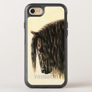 Black Friesian Draft Horse OtterBox Symmetry iPhone 8/7 Case