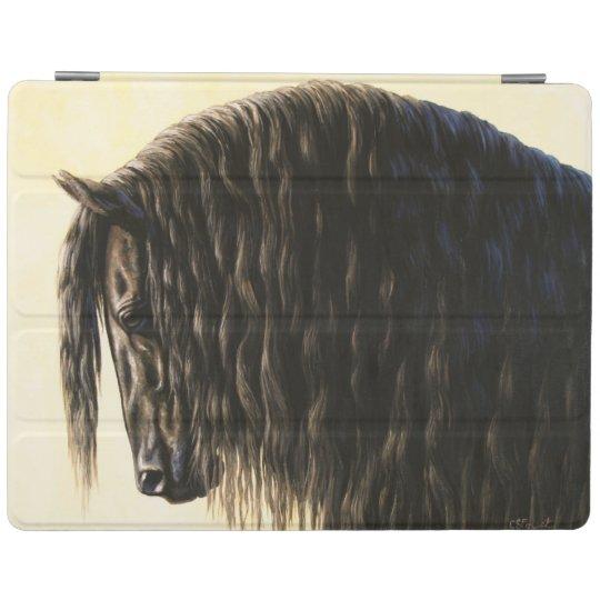 Black Friesian Draught Horse iPad Cover