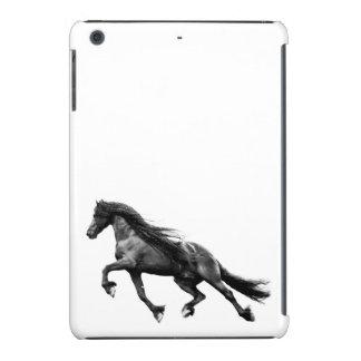 Black friesian stallion - friese horse case iPad mini retina covers
