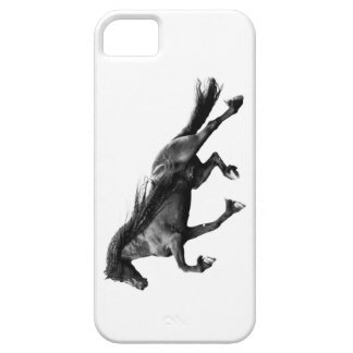 Black friesian stallion - friese horse iPhone case