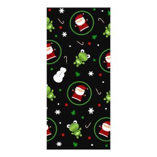 Black frogs santa claus snowmen custom rack card