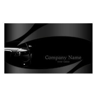 Black Front Car In Metal Curves Business Card