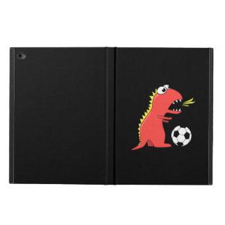 Black Funny Cartoon Dinosaur Soccer
