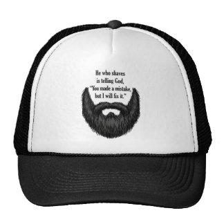 Black fuzzy beard cap