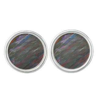 Black Galaxy Abstract Cuff Links