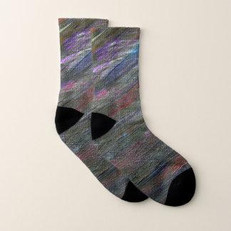Black Galaxy Abstract Socks