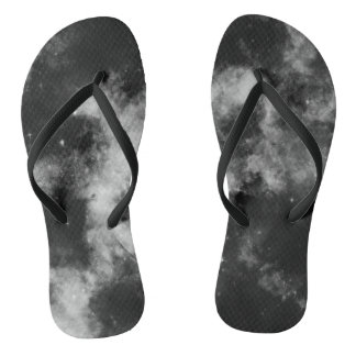 Black galaxy flip flops