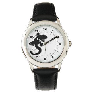 Black gecko wrist watches