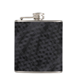 Black geometric flask