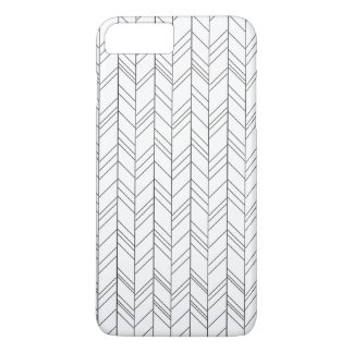 Black Geometric on White Iphone7 Plus Case