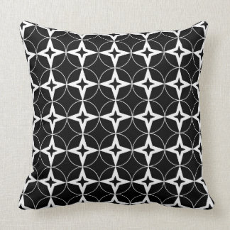 Black Geometric Pattern Throw Pillow