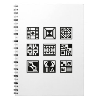Black geometrical tribal pattern photo book