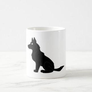 Black German Shepherd Basic White Mug